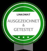 linkomat wurde getestet und ausgezeichnet von Stiftung Warentest und Handelsblatt