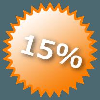 15% auf die Einnahmen Deiner geworbenen Freunde