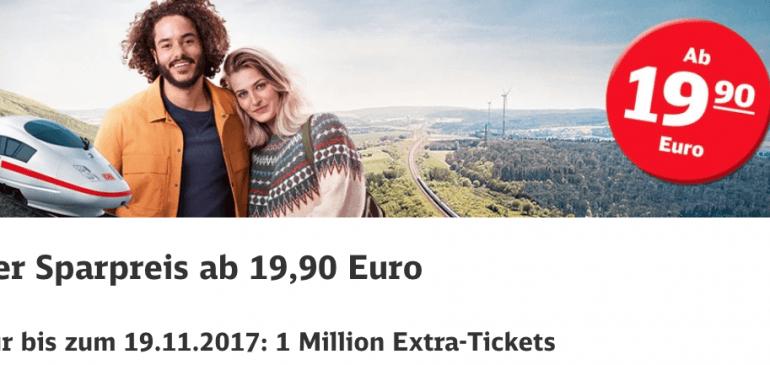 Für nur 19 € mit der Bahn quer durch Deutschland und 2,1% Cashback