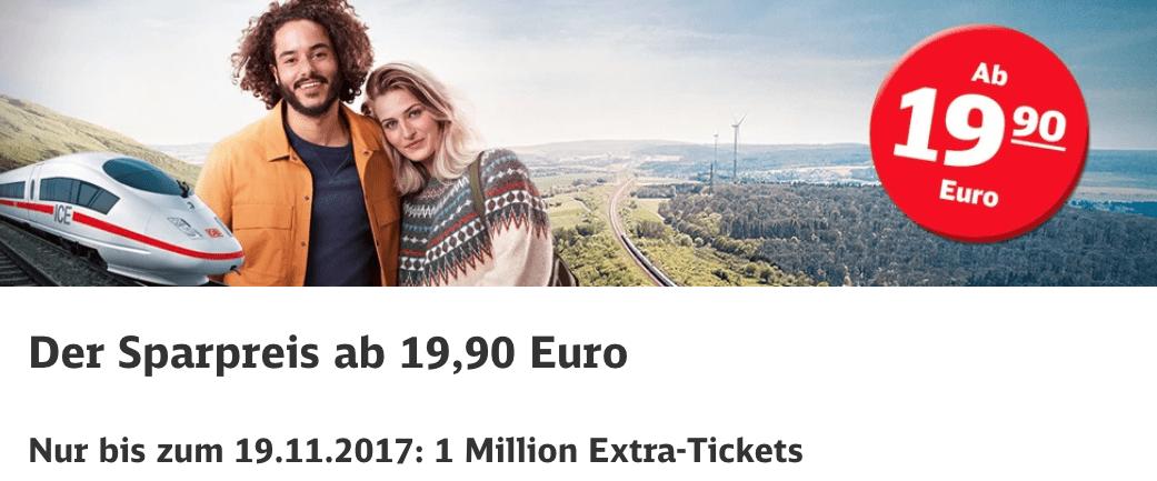 Deutsche Bahn Sparticket 19 Euro
